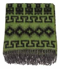 #228 Sage Green Alpaca Blend Blanket Throw Warm Light Brushed Peru Soft Luxury