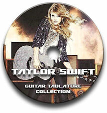 TAYLOR SWIFT POP ROCK GUITAR TAB TABLATURE SONG BOOK SOFTWARE CD