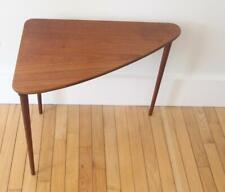 Mid Century Danish Modern HM Denmark Teak Triangular 3 Leg Side End Sofa Table