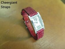 HERMES red ostrich watch strap band Made In Taiwan Cheergiant Straps 愛馬仕鴕鳥皮錶帶