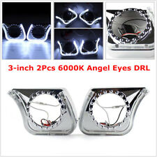 "3"" 2Pcs 6000K Angel Eyes DRL Integrated Light Cover Car Headlight/Fog Light/ 5W"