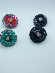 Beyblade ~Lot Of 4 Loose Metal Fusion Spinners