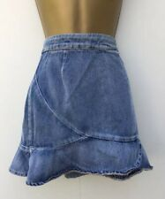 Atmosphere Primark New Blue Denim Peplum Summer Jean Skirt Size Uk 8