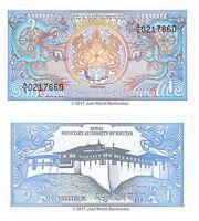 Bhutan 1 Ngultrum 1986 P-12  Banknotes  UNC