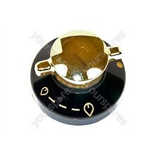 Genuine Belling Stoves Black & Gold Gas Hob Control Knob