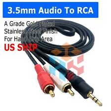 5FT 3.5mm Aux Male Jack to AV 2 RCA Stereo Music Audio Cable for MP3 iPod iPhone