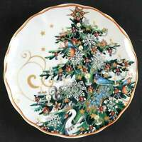 Williams Sonoma TWAS THE NIGHT BEFORE CHRISTMAS Tree Salad Plate 10225822