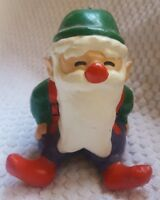 Sitting SANTA CLAUS CHRISTMAS tree holiday ORNAMENT • pre-owned