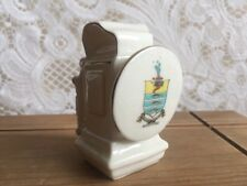 Vintage SHELLEY CHINA huile Cycle Lampe Worthing Crested Ware