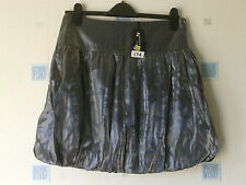 NEW LADIES SHORT  SKIRT SIZE 12 GREY/SILVER