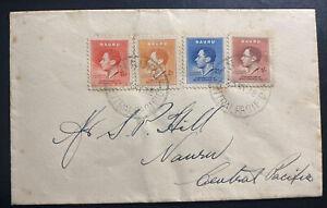 1938 Nauru Island First Day Cover FDC Coronation Of king George VI