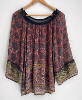 TRACY REESE Gorgeous Printed 3/4 Sleeve Blouse Top Size L 12 14 +
