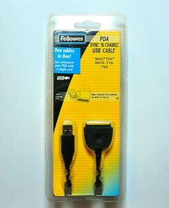 Fellowes PDA Sync and Charge USB Cable for Sony CLIE 610, 710, 760 (98384)