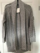 GAP GREY OPEN FRONT CARDI. SIZE LARGE. BRAND NEW WITH TAGS. RRP £49