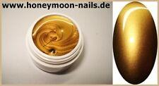 ABVERKAUF 5ml UV TRAUM Farbgel metallic CHROM CHAMPAGNER GOLD top deckend
