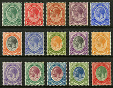 South Africa  1913-24  Scott #  2-16  Mint Lightly Hinged to Hinged Set