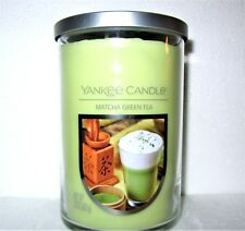 "Set Of 2 Yankee Candle ""Matcha Green Tea"" 2-Wick Tumbler~Large 22oz ~White Label"