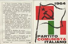 ITALY 1964 IDENTITY CARD, ITALIAN COMMUNIST PARTY. GROSSETO SIGNED TOGLIATTI