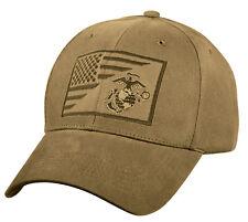 Usmc Militar Gorra Globe Ancla Coyote Marrón Perfil bajo Algodón Béisbol  7185 77334d5a1ca