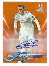 2017-18 Topps Chrome Gareth Bale Orange Refractor Auto #'d 9/25 Autograph