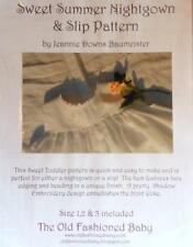 Sweet Summer Nightgown &Slip Pattern  SZ:1,2,3 Old Fashioned Baby