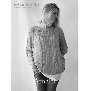 Erika Knight Ladies Sweater Knitting Pattern Amalfi In DK (Studio Linen)