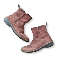 UGG Australia Womens 8 NEEVAH 1003421 Suede Ankle Boots Brown Leather Sheepskin