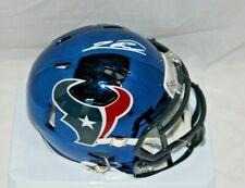 Justin Reid Autographed Signed Houston Texans Blue Chrome Mini Helmet 2