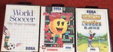 Sega Master System Games X 3 Job Lot Mrs Pac Man World Soccer Leader Board Retro
