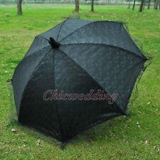 Black Lace Parasol Wedding Umbrella for Bridal Party Photograph Accessories New