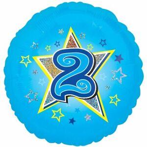 Age Two Blue Foil Balloon 18''
