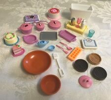 Barbie Dishes Food Bakeware Kitchen Lot Cake Pots Pans Bowls Cooler Scale Drinks