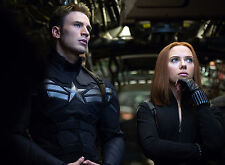 PHOTO CAPTAIN AMERICA   - CHRIS EVANS & SCARLETT JOHANSSON FORMAT 20X27 CM