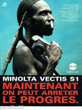 PUBLICITE ADVERTISING 116  1996  Minolta  appareil photo Vectis S1