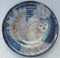Lise B Moorcroft Owl Charger - 39.5cm diameter