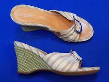 8 M Rockport Dynamic Suspension Ladies Womens Shoes Sandals Edge Tan Beige Heel