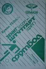 Programa EC 1989/90 Zenit San Petersburgo-vfb stuttgart