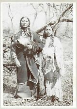 Cabinet Photograph of Kiowa Indian Chief Ahpeatone & Indian Woman c1910-20