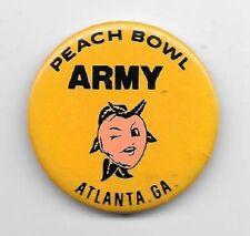 Peach Bowl Army Atlanta GA pinback button pin