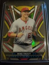 2021 Topps Finest Mike Trout /50 Gold Refractor Angels Carrer Die Cut SP #FCI-1