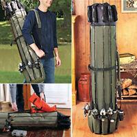 Folding Fishing Rod Bag Holdall Carp Rod Carrier Holder Tackle Reel Storage  U1