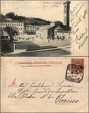 Fiesole, Firenze, la piazza, animata, viaggiata 1901