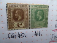 CAYMAN ISLANDS  STAMP KGV 1/2d SG 40.41 FINE BOTH MUH