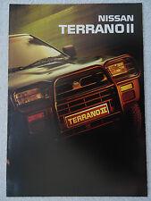 Nissan Terrano II brochure 1993 - 2.7 Turbo Diesel LX,SLX, 2.4 Petrol SLX models