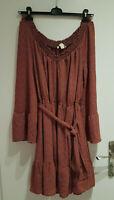 Women Michael Kors Off Shoulder Bell Long Sleeve Knee Length Dress Size XL (A41)