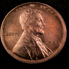 1909 Lincoln Wheat Penny Cent // Gem BU++ (red) // (W1017)