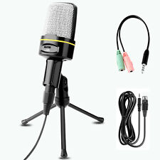 Professional Audio Condenser Microphone Mic Sound Recording Stand Tripod Phone
