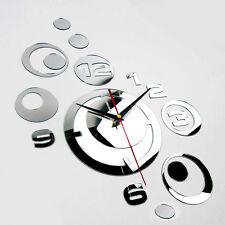wand uhr design wanduhr moderne design spiegel dekoration uhren Wandtattoo