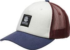 ELEMENT MENS BASEBALL CAP.ICON MESH OXBLOOD CURVED PEAK TRUCKER HAT 8W TA3 3906