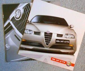 Alfa Romeo 147 GTA German Market Brochure Depliant 2002 x 2 Mint Condition